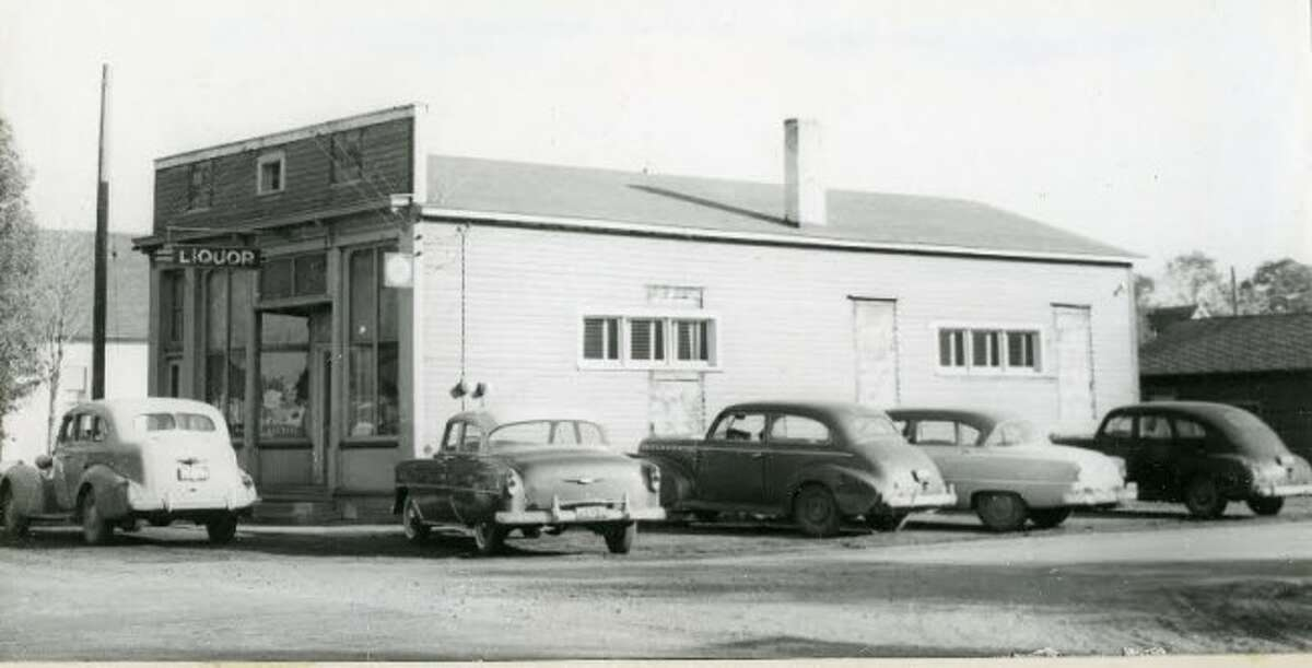 The Filer City Tavern is shown in this photograph from the late 1940s/early 1950s.