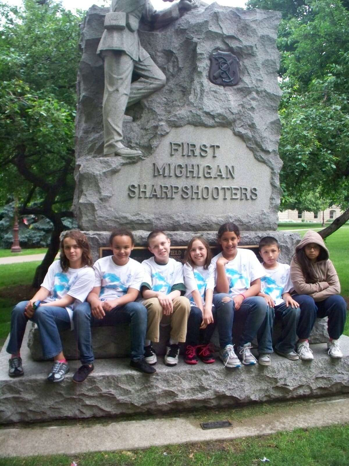 Students from Linda Diesing's fourth grade class at Kennedy Elementary School toured Lansing recently in a hands-on eduational experience. It was the last trip Diesing will make with her class as she retired this year.