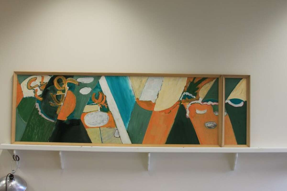 Shown is one of the eight pieces artwork created by Leslie Laskey that were donated to West Shore Community College in September 2014 by the family of June Long. The artwork will be displayed at various locations around the college. (File photo)