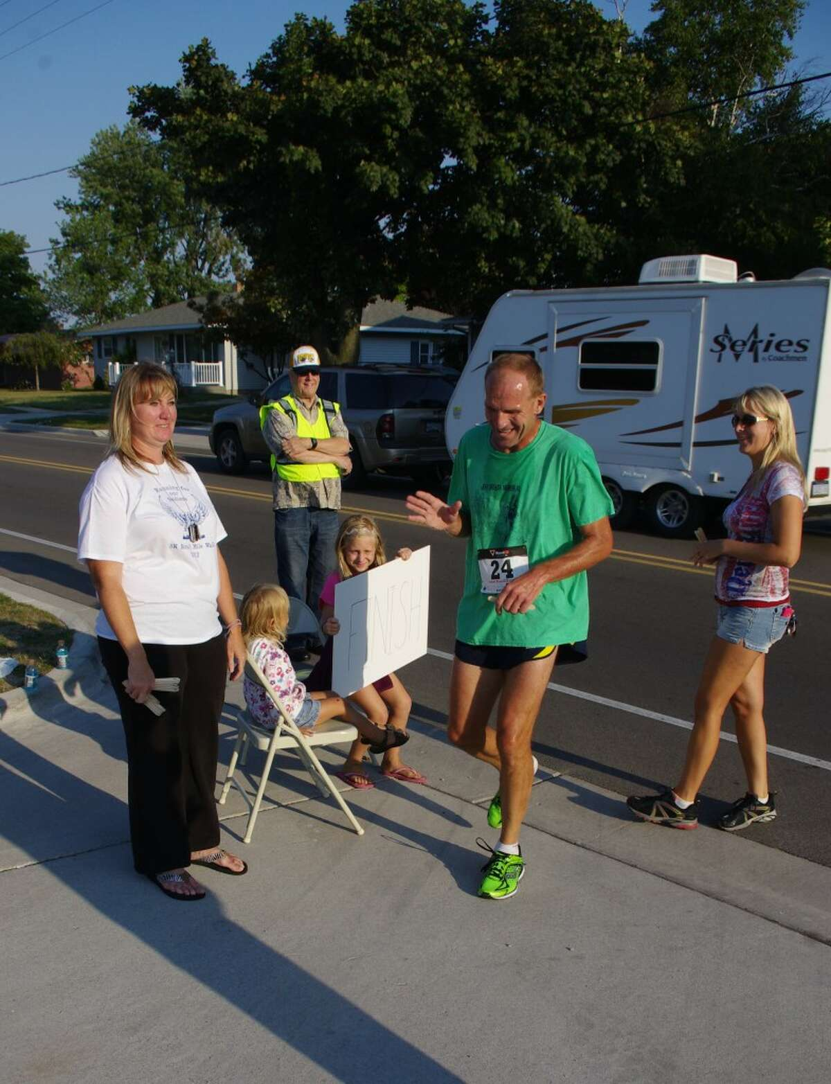 Ron Zywicki of Traverse City won the 2012 Bravo Troop 5K run. This year's 5K run and one mile walk will be held Saturday at 8 a.m. at the Manistee Armory on First Street. (File Photo/News Advocate)