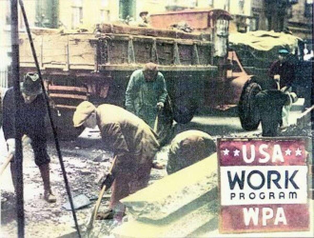 The Works Progress Administration employed 2 million to 3 million unemployed at unskilled labor.