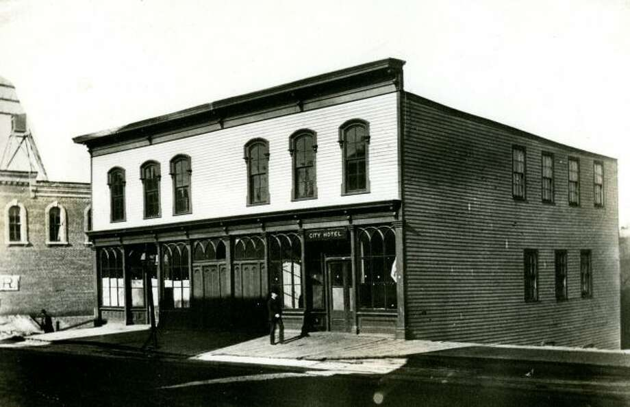 The City Hotel which was located on the northeast corner of Pine and River streets.