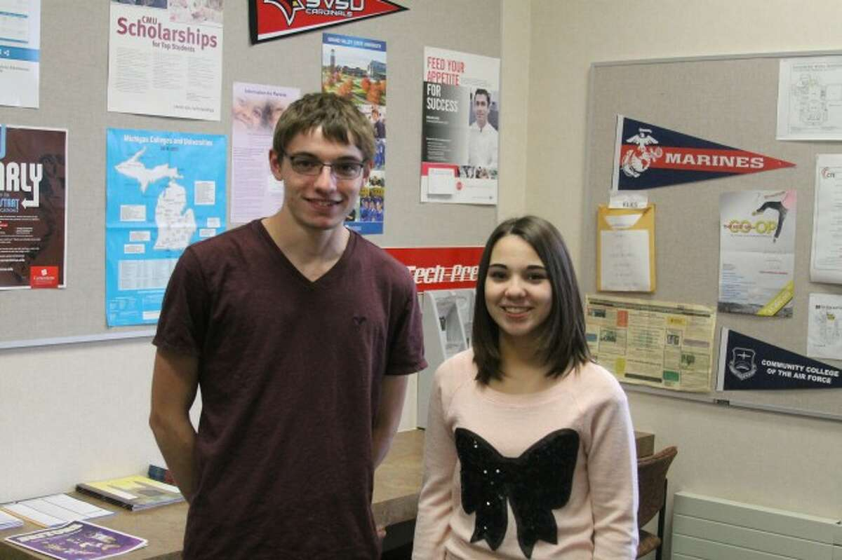 Manistee High School juniors Kyle Schaubroeck and Autumn Carter and qualified as finalists in the 59th Annual Michigan Mathematics Prize Competition. They pair were two or 190 students to take the second part of the test on Wednesday. Results will not be released until January.
