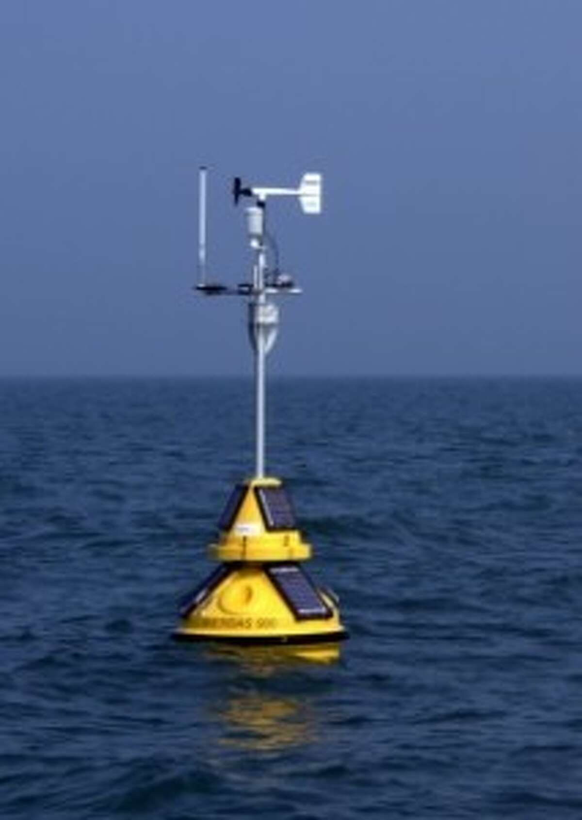 The buoy is stationed in Lake Michigan, between Holland and Grand Haven. It gives boating more accurate weather information.
