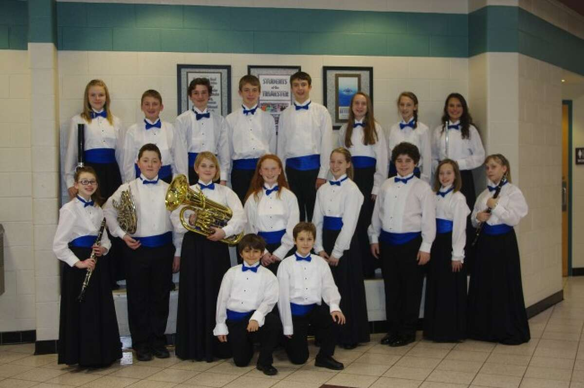 Members of the Manistee Area Public Schools Middle School Band recently participated in the District One MSBOA Honor Band on Dec. 8, at Shelby High School.