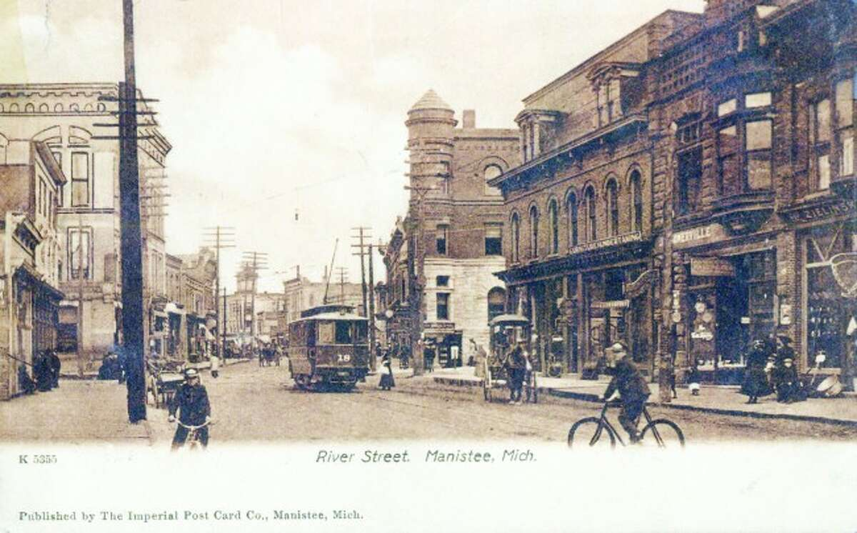 River Street was a bustling place full of activities in the late 1890s.