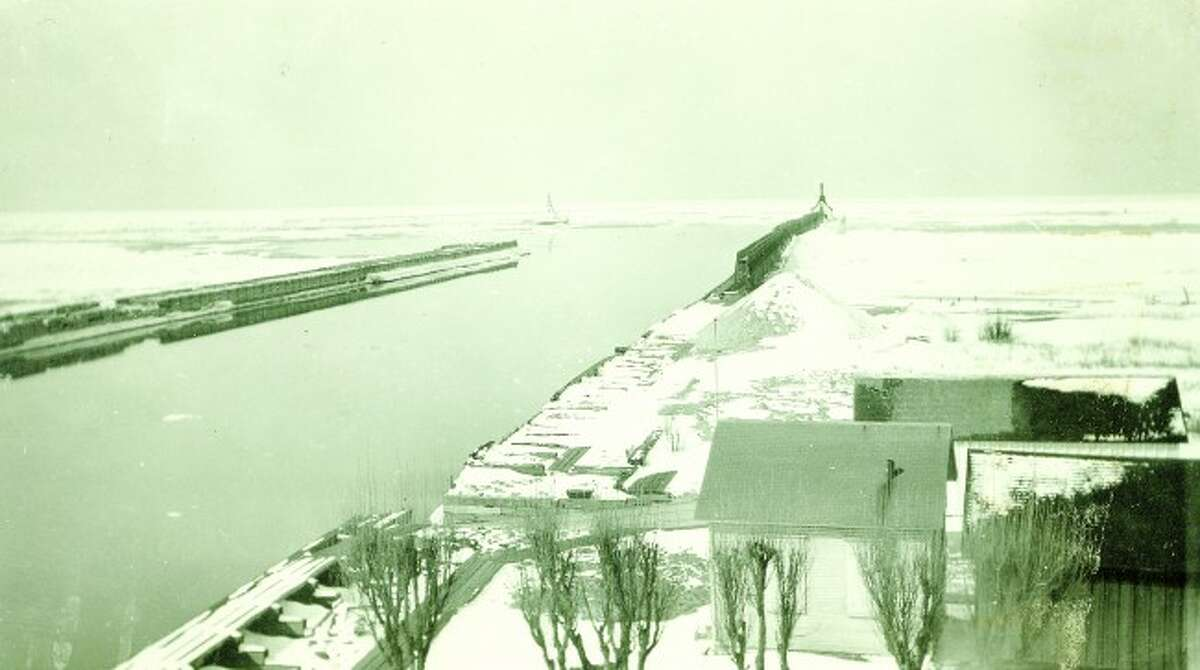 It was a snowy view of the Fifth Avenue Beach pier in this picture showing how it looked in the early 1950s.