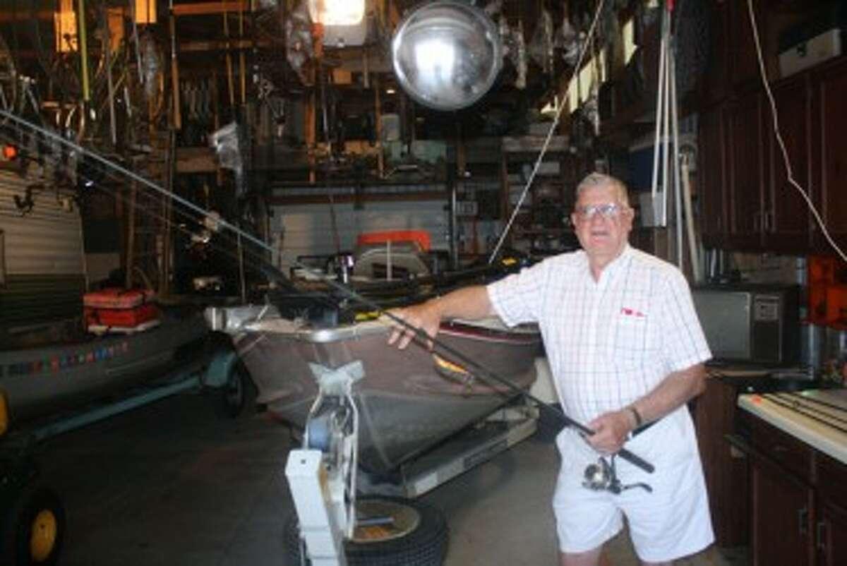 Bob Smrcka of Wellston gets ready for a fishing trip. (John Raffel/Pioneer News Network)