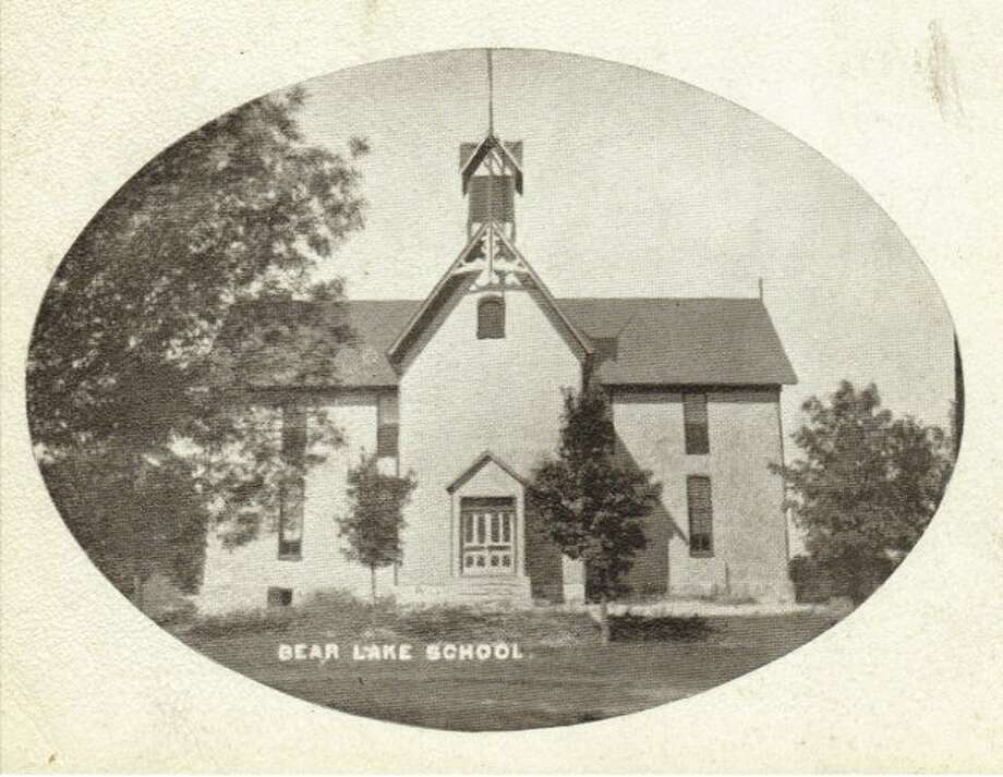 The Bear Lake School is shown in this picture from the early 1900s.