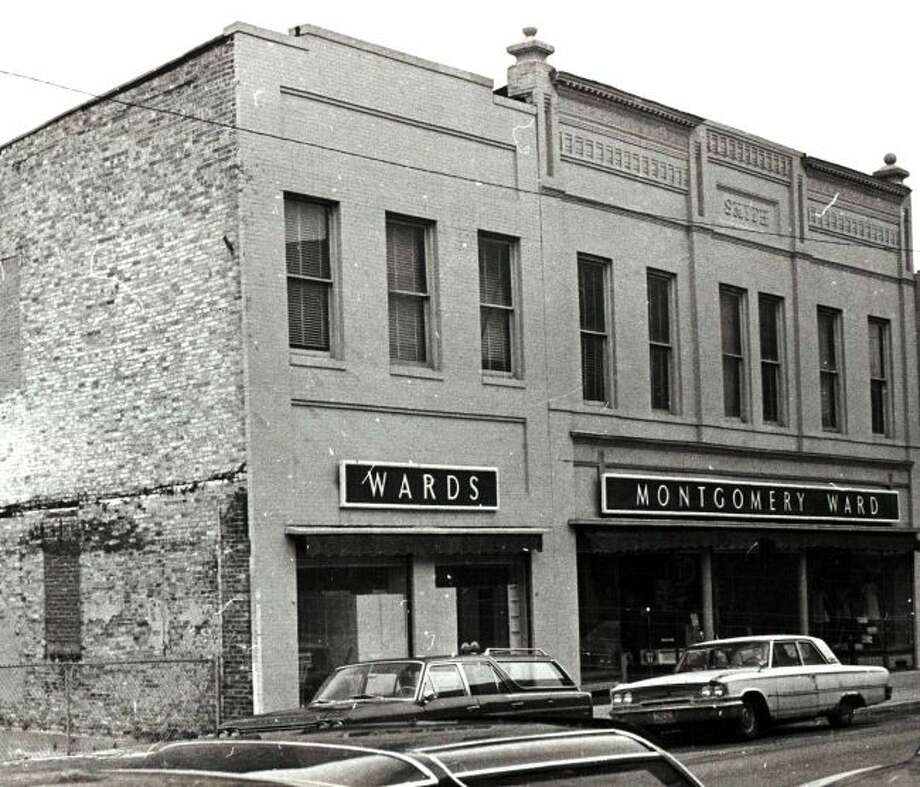 The Montgomery Ward Store in downtown Manistee is shown in this photograph from the 1960s.
