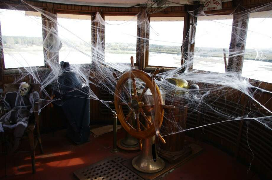 On the nights the Ghost Ship is open, most likely a spooky captain will be at the wheel in the pilot house. (Dave Yarnell/News Advocate)