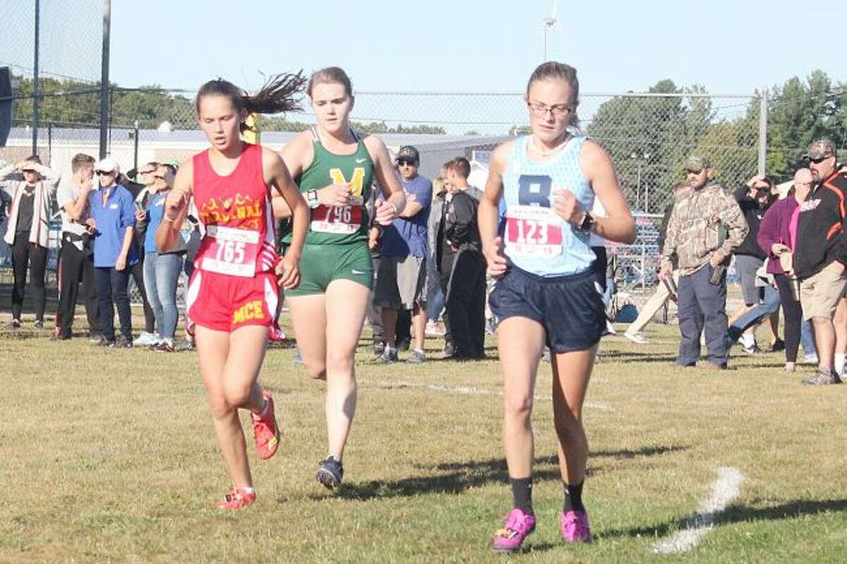 Brethren's Alexis Tracy finished 11th overall in the small school race at the Pete Moss Invite at Benzie Central on Saturday. (Robert Myers/Pioneer News Network)