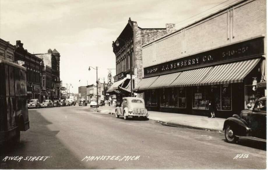 The J.J. Newberry Store that was located in downtown Manistee is shown in this photo. The story later burned down and was a total loss.