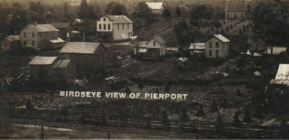 This 1890's view of Pierport shows what that area looked like at that time with several houses being located in the residential area. Pierport today is located off of M 22 between Onekama and Arcadia.