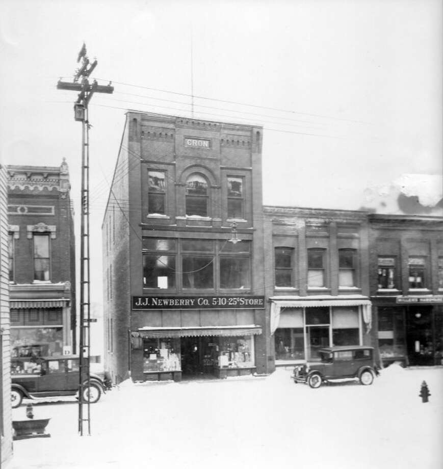 The J.J. Newberry's store in downtown Manistee is shown in this 1920 photograph.