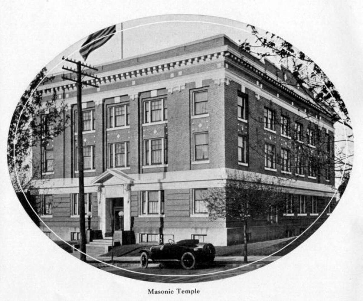 The Masonic Temple Building that is located on Maple Street in Manistee looks very similar to what it does today in this 1920s photo.