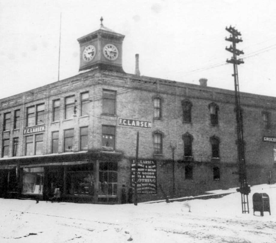 In November 1913, fire destroyed F.C. Larsen's Store on the corner of River and Greenbush.