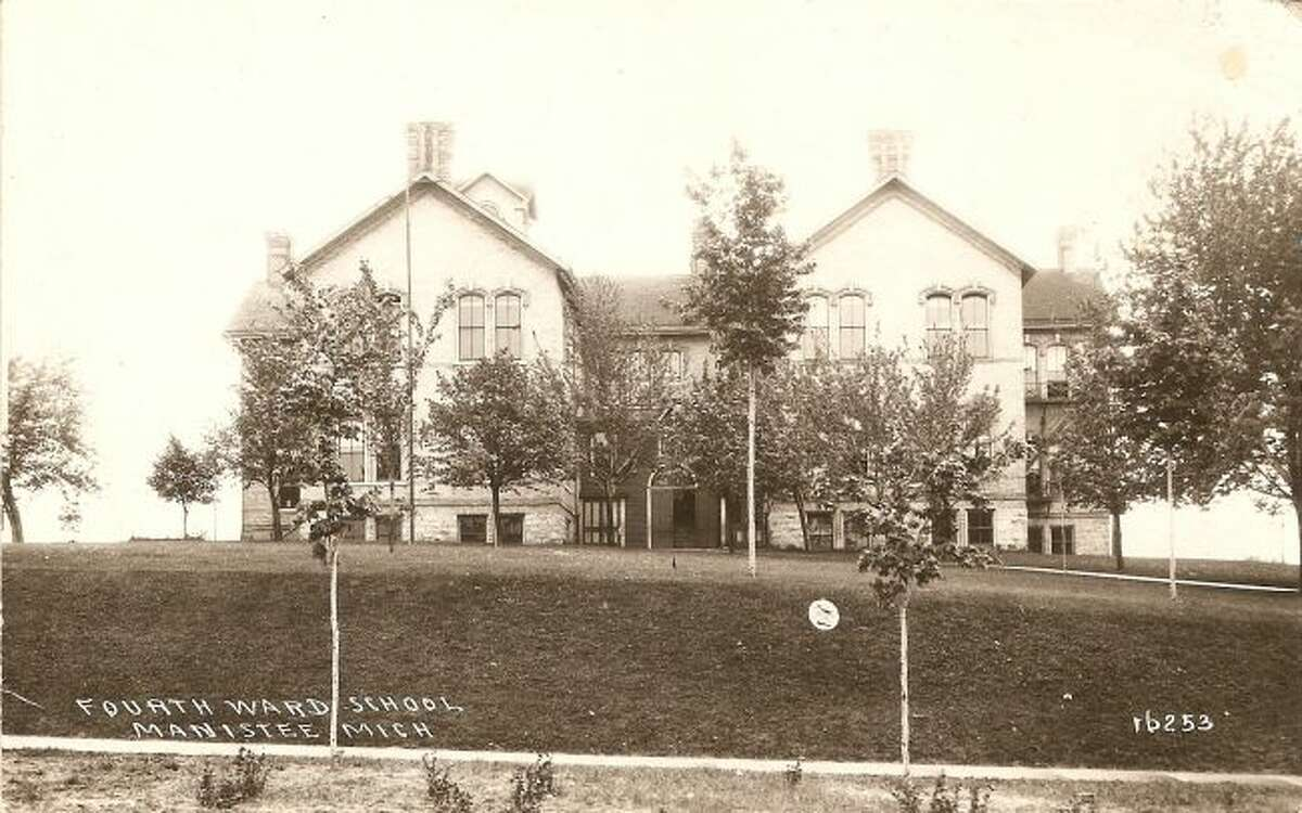 The Fourth Ward School in Manistee is shown in this early 1900 photograph.