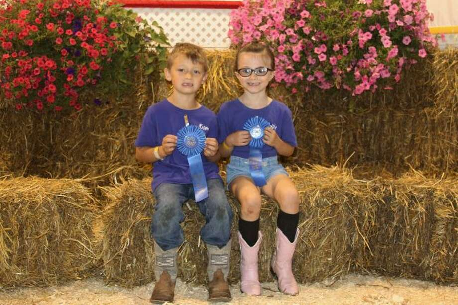 The Cloverbud winners were (from left to right): Kason Lambert and Paisley Birdsley. (Ashlyn Korienek/News Advocate)