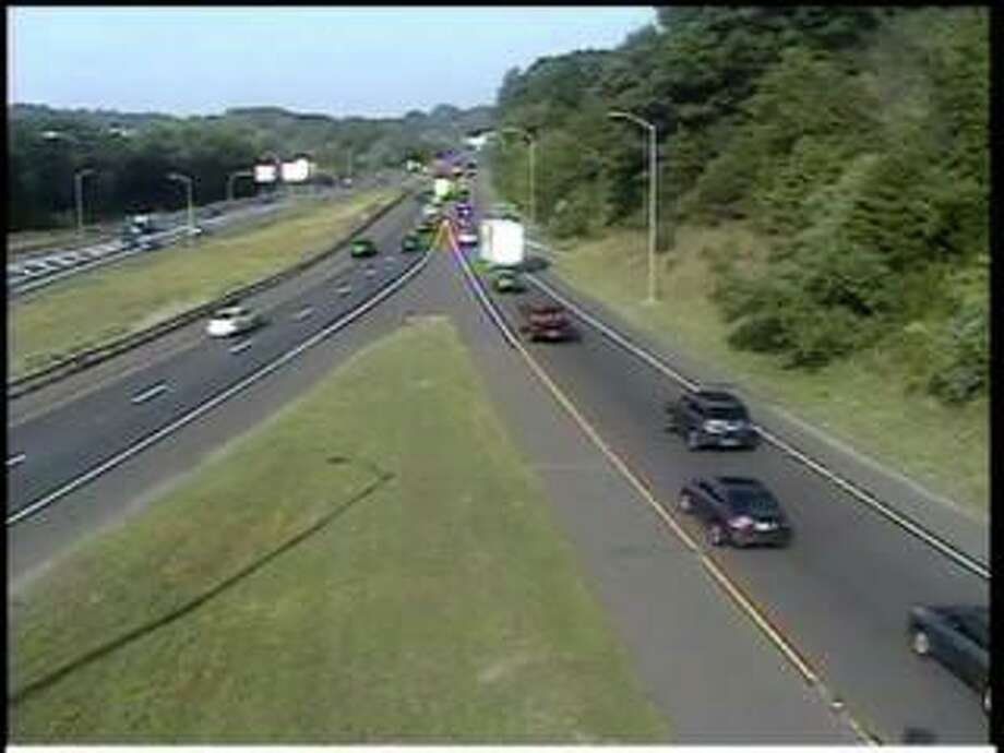 Police activity on Route 7 Tuesday morning resulted in the closure of the southbound Exit 10 ramp. Photo: Courtesy Of The State Department Of Transportation