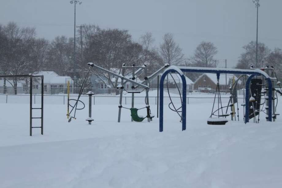 Most school playgrounds around the county looked like the middle of January instead of the first week of April this week. The inclement weather forced the cancellation of school on Wednesday in all the county schools and all but one have now exceeded the allotted six days allowed by the state. School officials are now trying to determine when and how they will make up the lost time.