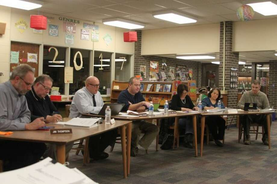 Manistee Area Public Schools Board of Education members received an update on the track project.