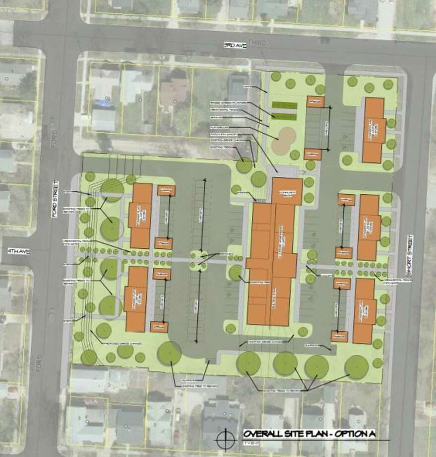 """The Hollander Development Corporation's """"The Workforce Housing Project"""" draft site plans includes two options, this is option A of site plans. (Courtesy Photo)"""