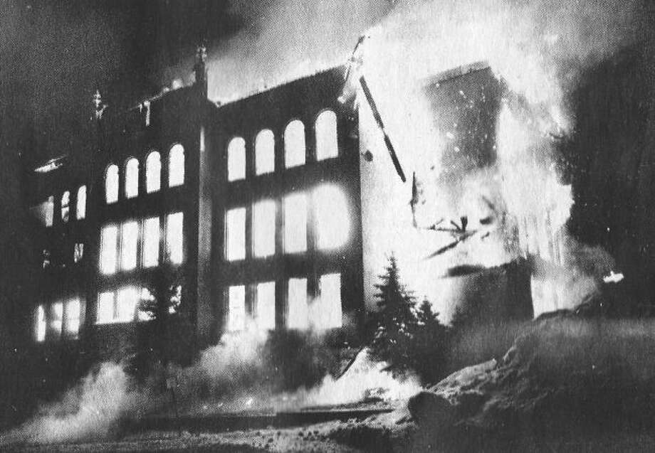St. Joseph School in Manistee was destroyed by fire on the morning of January 21, 1978.