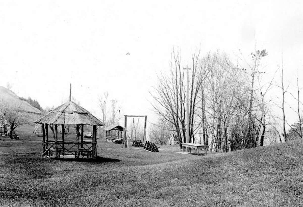 Orchard Beach State Park is shown in this photograph from the early 1900s.