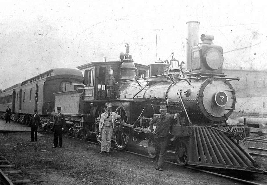 Train travel was a popular mode of transportation in Manistee County in the early 1900s.