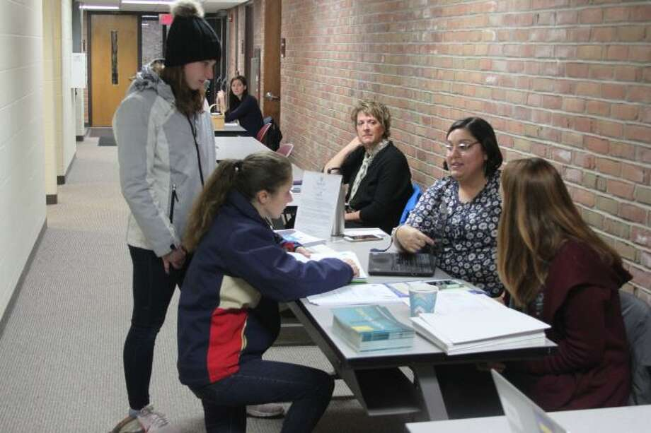 High School students and their parents from all over Manistee County took part in Wednesday's FAFSA Completion event at the Manistee Intermediate School District that was sponsored by Launch Manistee and the Filer Credit Union.