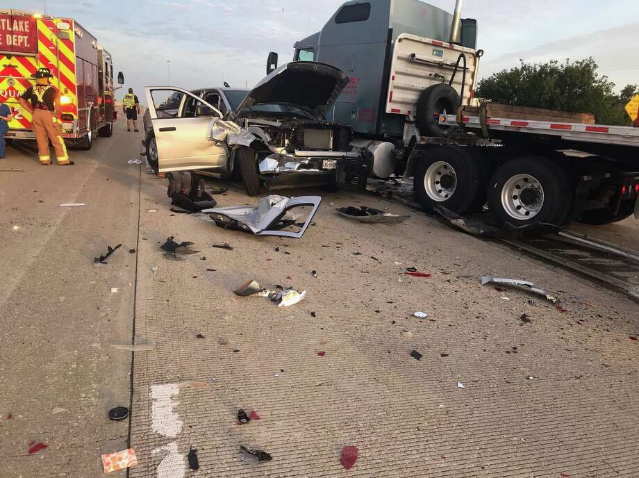 Two children were hurt in a crash along the Katy Freeway near Greenhouse on Tuesday, July 30, 2019. Photo: Harris County Precinct 5 Constable's Office