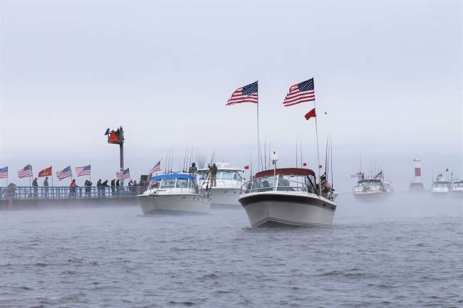 The 2018 Tight Lines for Troops event was foggy, wet and a little bit cold, but that did not stop anyone from supporting the veterans. (Michelle Graves/News Advocate)