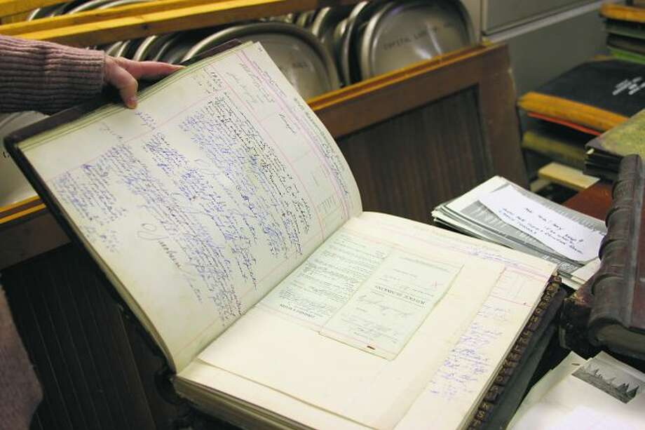 Court records from 1925 detailing cases presided over by a traveling justice of the peace. (Colin Merry/Pioneer News Network)
