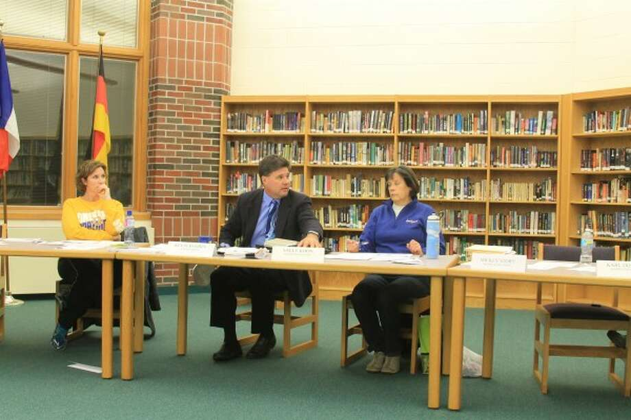 Onekama Consolidated Schools Board of Education members discussed damage caused to the building by Inclement weather.