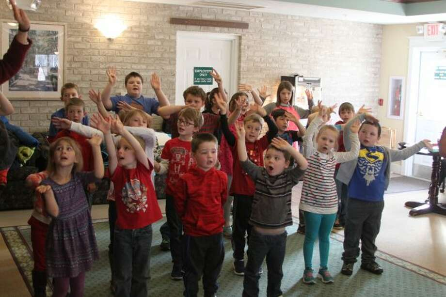 Students from Trinity Lutheran School have been visiting Green Acres on Valentine's Day for more than 15 years to bring the residents some good cheer with songs.