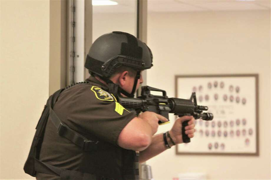 A report was given on the active shooter training held in October, and was one of many updates provided on the Manistee County Sheriff's Office at a recent county commissioners meeting. (News Advocate File Photo)