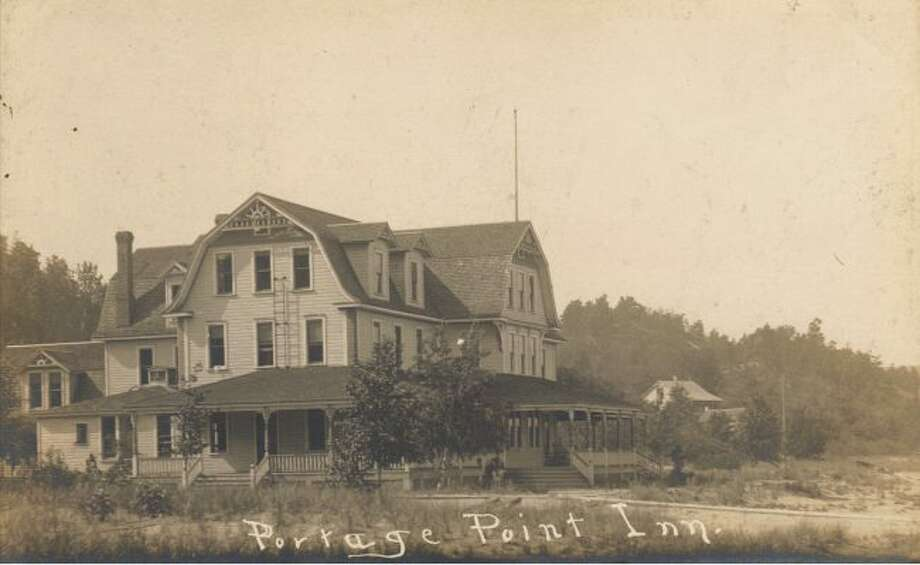 This photograph from the early 1900s shows the Portage Point Inn looking regal.