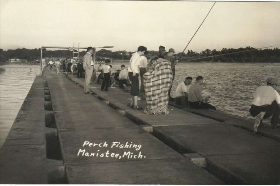 The pier at First Street Beach was a popular spot for perch fishing in the 1940s and 50s prior to the salmon fishing explosion that began in the 1960s.