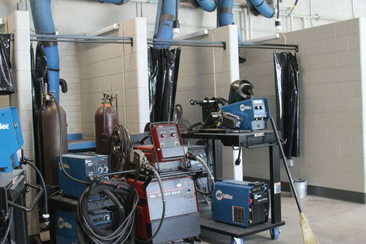 One of the areas to benefit from the recent $5.2 million renovation project at West Shore Community College Technical Center was the addition of a welding classroom addition and new equipment.