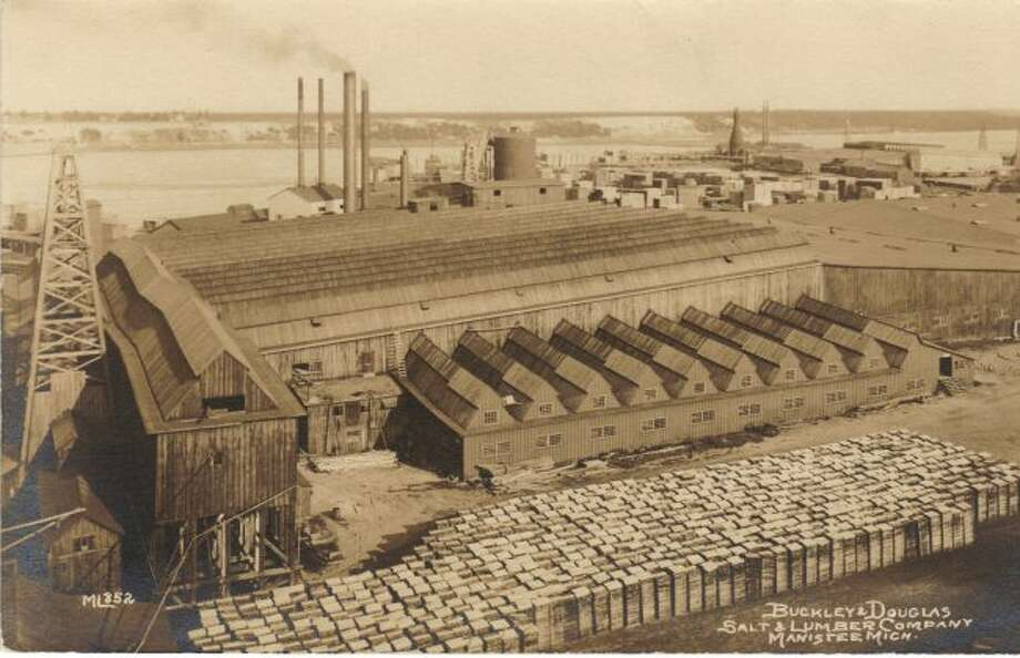 The Buckley and Douglas lumber and salt plant was one of the many large industrial buildings that employed many residents that was located around Manistee Lake in the 1890s.