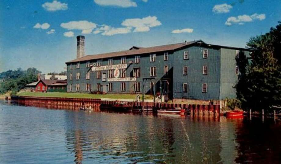 The Century Boat factory that was located on the Manistee River Channel at the present location of the Century Terrace building is shown in this early 1960s photograph.