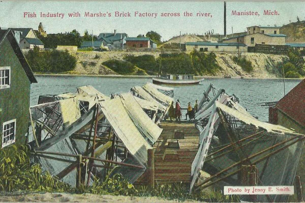 The fishing industry was big in Manistee in the 1940s as the fishermen worked out on Lake Michigan and had their businesses set up on the Manistee River Channel.