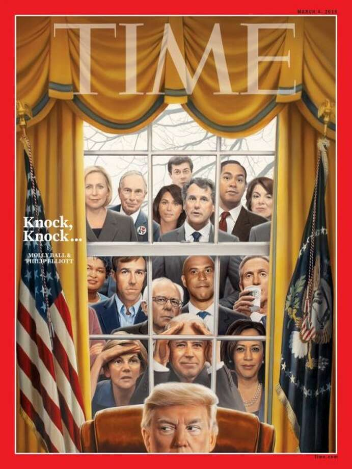 The March 4 cover of Time Magazine depicts all the candidates trying to challenge President Donald Trump in the 2020 election.