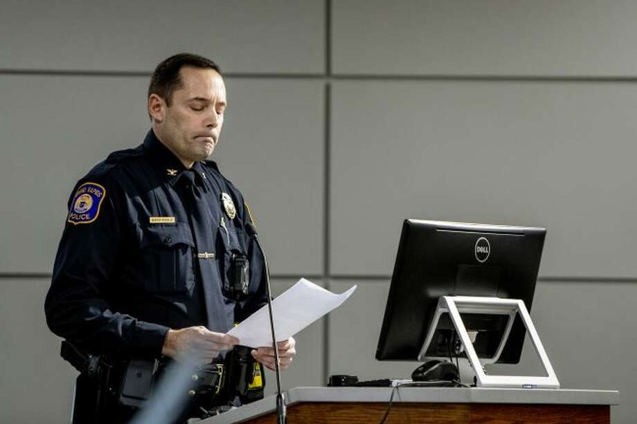 Interim Police Chief David Kiddle defended calling federal immigration authorities on a former U.S. Marine who is Latino in a Feb. 26, 2019 press conference.