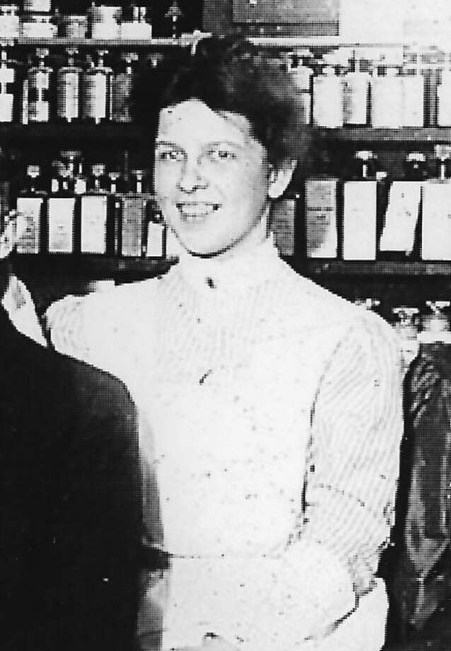 Adaline L. Boswell worked at the A.H. Lyman Drug Co and went on to become a doctor in the field of osteopathy. The above photograph of Adaline Boswell is cropped out of a group photo taken at the A.H. Lyman Drug Co. circa 1906.