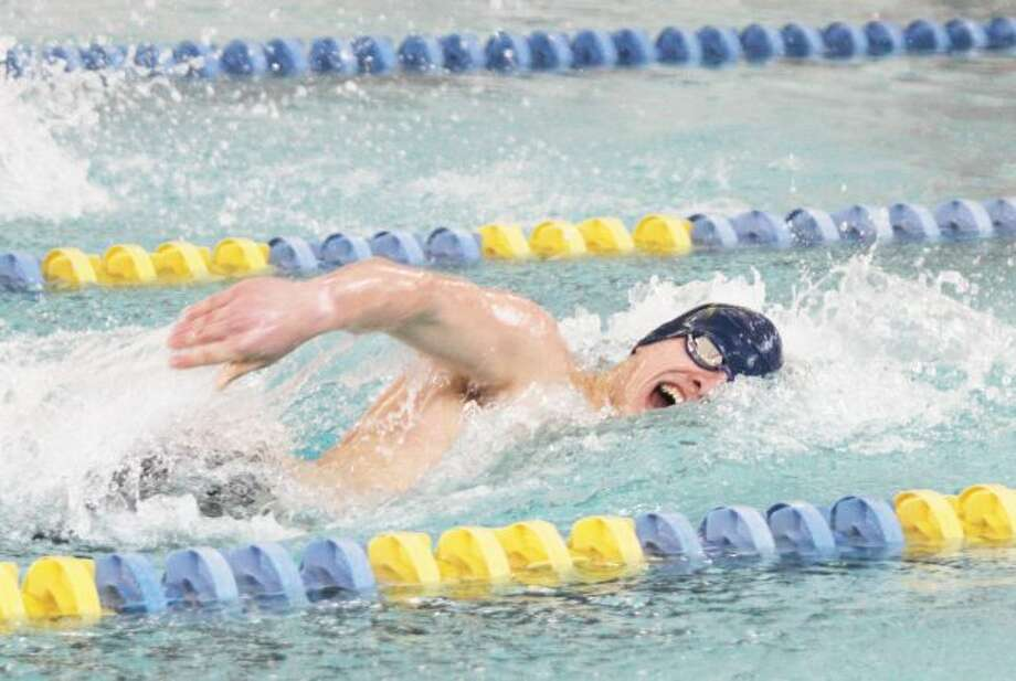 Manistee senior Caden Schmutzler is slated to compete in four events, including two relays, in the Division 3 state finals at Oakland University on Friday and Saturday. (News Advocate file photo)