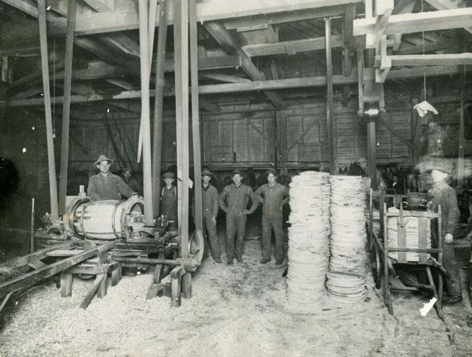 The Cooper Shop of the Ruggles and Rademaker Salt Plant that made barrels to hold the salt that the company produced in Manistee.