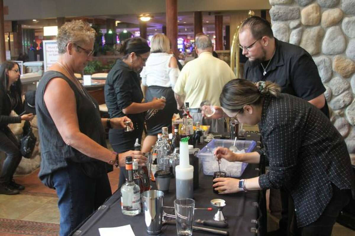 Contestants were given 30 minutes to create hard coffee drinks that were then judged by Foster in the Spirited Coffee Gathering competition.