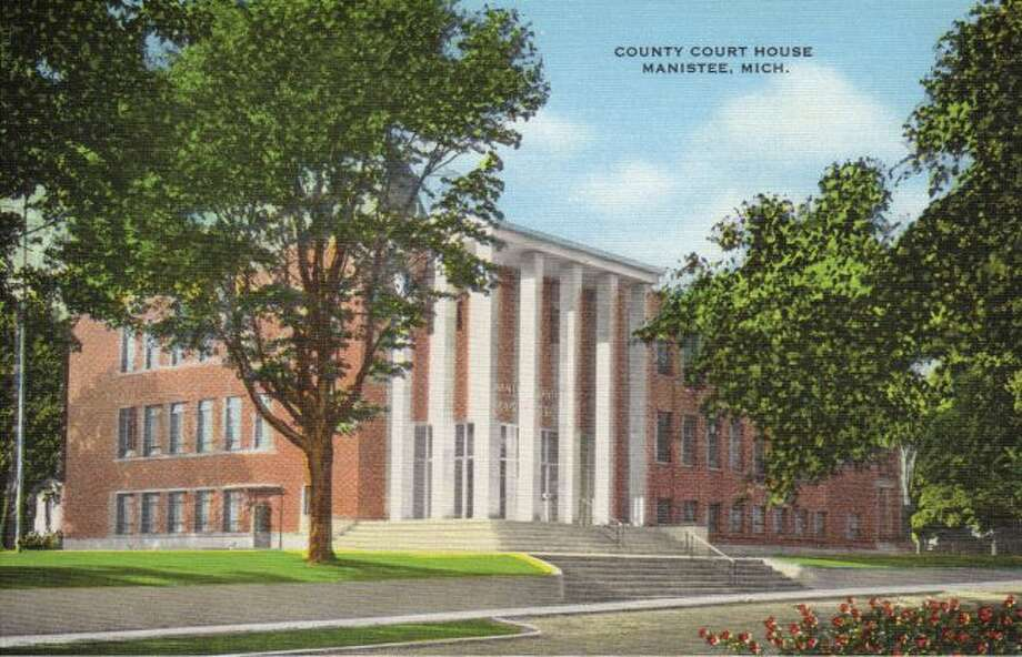 The Manistee County Courthouse building is shown how it looked in 1960.